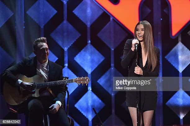 Recording artist Hailee Steinfeld performs onstage during Z100's Jingle Ball 2016 at Madison Square Garden on December 9 2016 in New York New York
