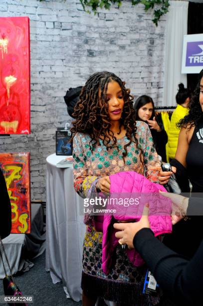 Recording artist Halle Bailey attends GRAMMY Gift Lounge during the 59th GRAMMY Awards at STAPLES Center on February 10, 2017 in Los Angeles,...