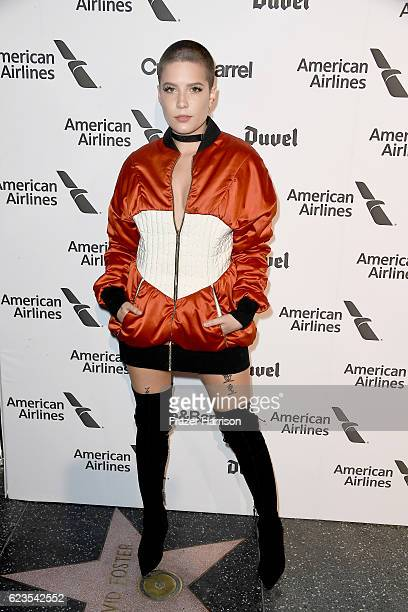 Recording artist Halsey attends Capitol Records 75th Anniversary Gala at Capitol Records Tower on November 15 2016 in Los Angeles California
