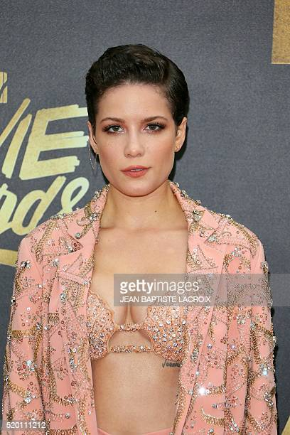 Recording artist Halsey attends the 2016 MTV Movie Awards in Burbank California on April 9 2016 LACROIX