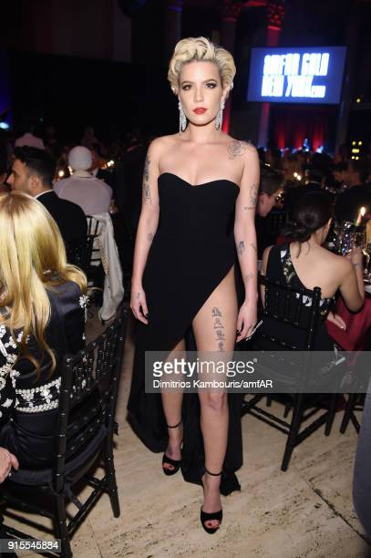 Recording Artist Halsey attends the 2018 amfAR Gala New York at Cipriani Wall Street on February 7 2018 in New York City