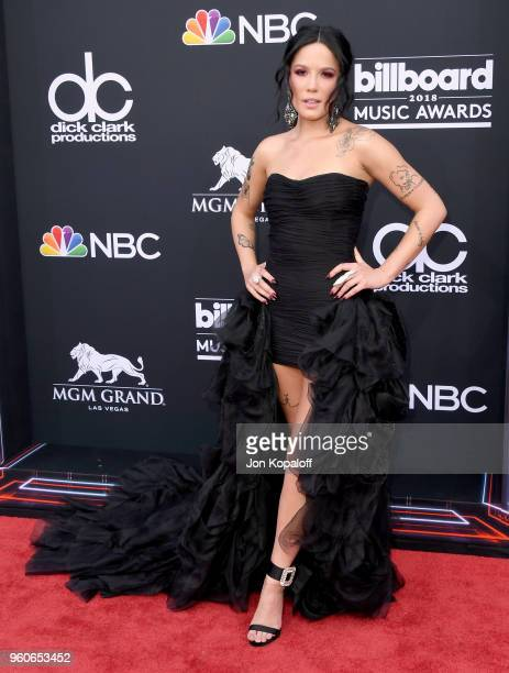 Recording artist Halsey attends the 2018 Billboard Music Awards at MGM Grand Garden Arena on May 20 2018 in Las Vegas Nevada