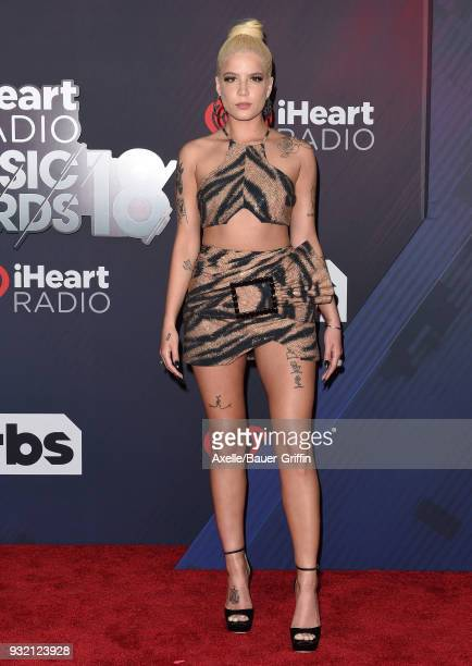 Recording artist Halsey attends the 2018 iHeartRadio Music Awards at the Forum on March 11 2018 in Inglewood California