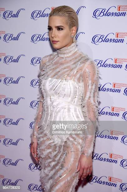 Recording artist Halsey attends the Endometriosis Foundation of America's 9th Annual Blossom Ball at Cipriani 42nd Street on March 19 2018 in New...