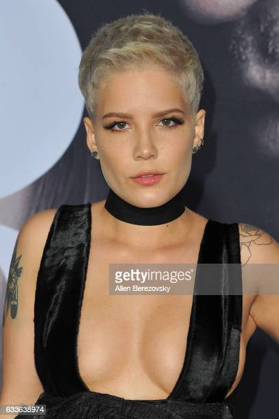 Recording artist Halsey attends the Premiere of Universal Pictures' 'Fifty Shades Darker' at The Theatre at Ace Hotel on February 2 2017 in Los...