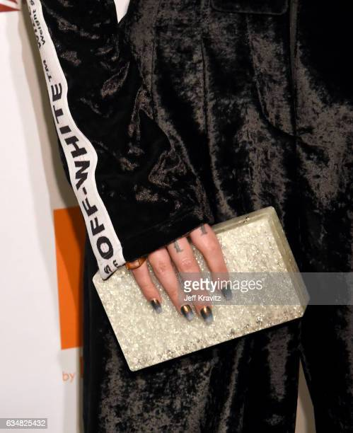 Recording artist Halsey clutch detail attends the 2017 PreGRAMMY Gala And Salute to Industry Icons Honoring Debra Lee at The Beverly Hilton Hotel on...