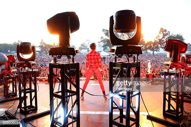 Recording artist Halsey performs onstage at Which Stage during Day 2 of the 2016 Bonnaroo Arts And Music Festival on June 10 2016 in Manchester...