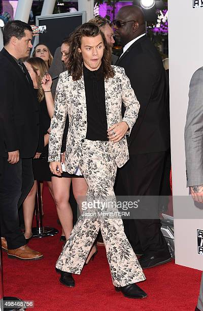 Recording artist Harry Styles of One Direction attends the 2015 American Music Awards at Microsoft Theater on November 22 2015 in Los Angeles...