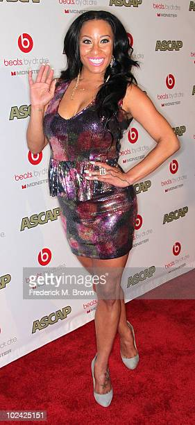 Recording artist HazelE attends the 23rd annual ASCAP Rhythm and Soul Music Awards at the Beverly Hilton Hotel on June 25 2010 in Beverly Hills...