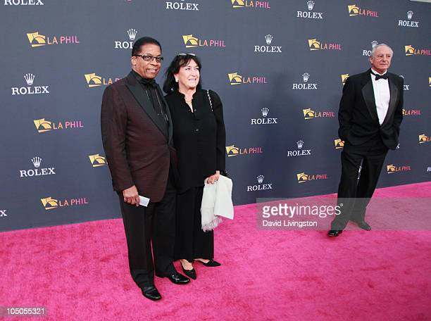 Recording artist Herbie Hancock and wife Gigi Hancock attend the Los Angeles Philharmonic opening night gala to celebrate music director Gustavo...
