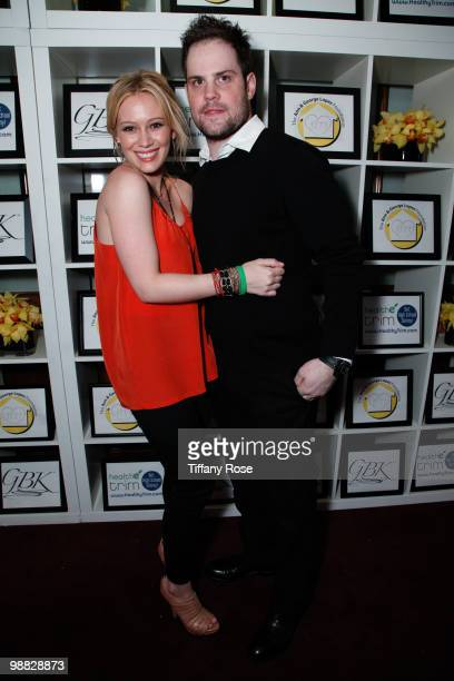 Recording artist Hilary Duff and Ice Hockey player Mike Comrie attend the GBK Gift Lounge at The George Lopez Celebrity Golf Tournament on May 3 2010...