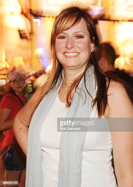 Recording artist Hilary Williams Hank Williams' daughter attends the taping of the opening segment of the 40th Anniversary of Monday Night Football...