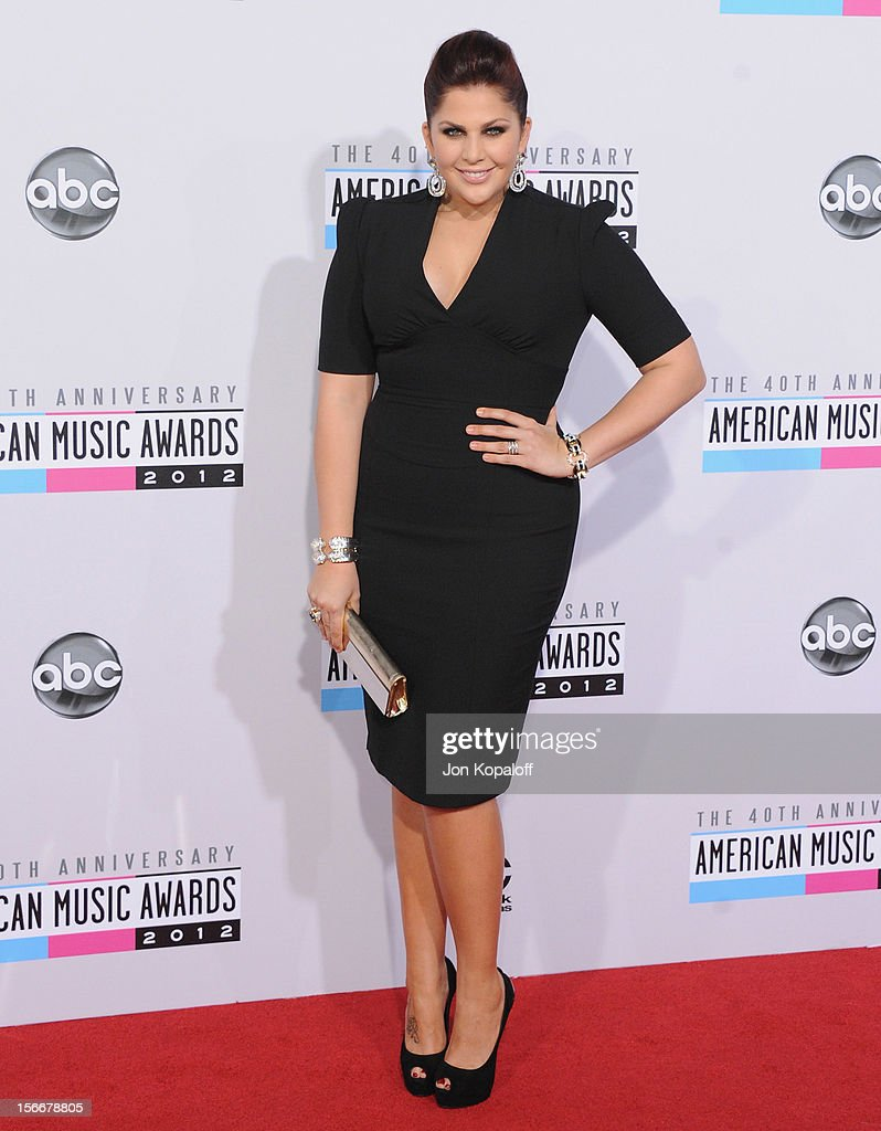 Recording artist Hillary Scott of Lady Antebellum arrives at The 40th American Music Awards at Nokia Theatre L.A. Live on November 18, 2012 in Los Angeles, California.