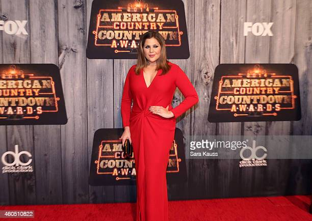Recording artist Hillary Scott of music group Lady Antebellum attends the 2014 American Country Countdown Awards at Music City Center on December 15...