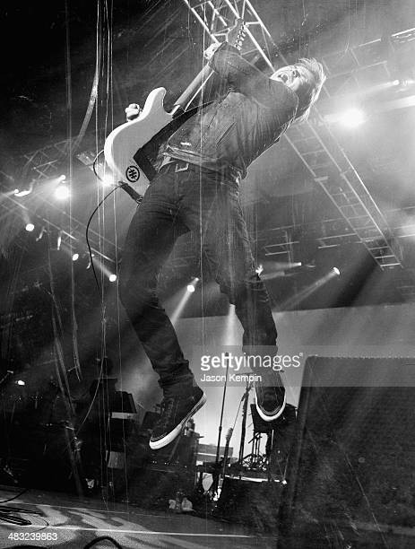 Recording artist Hunter Hayes performs onstage at the 49th Annual Academy of Country Music Awards All Star Jam at the MGM Grand Marquee Ballroom on...