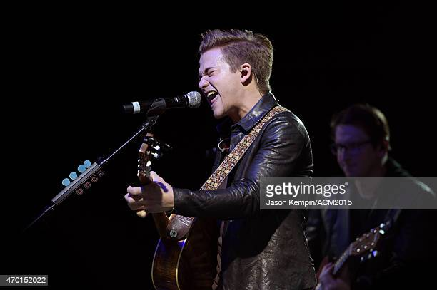Recording artist Hunter Hayes performs onstage during the ACM Lifting Lives Gala at the Omni Hotel on April 17, 2015 in Dallas, Texas.