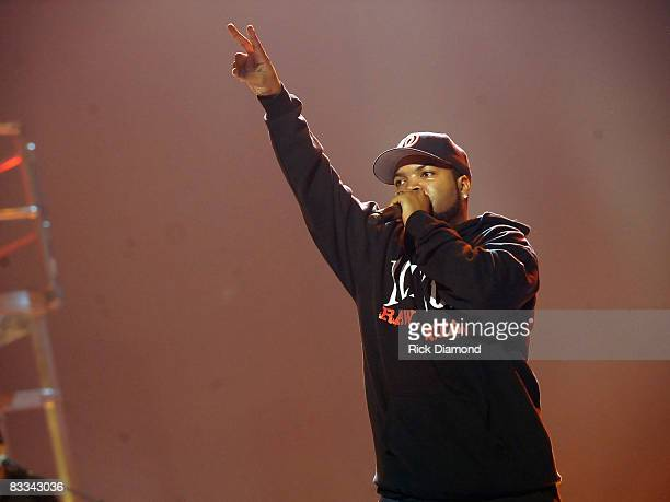 Recording artist Ice Cube performs during the 2008 BET Hip-Hop Awards Rehearsals Day 3 at The Boisfeuillet Jones Atlanta Civic Center on October 18,...