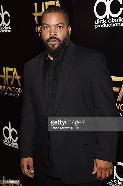 Recording artist Ice Cube poses in the press room during the 19th Annual Hollywood Film Awards at The Beverly Hilton Hotel on November 1, 2015 in...