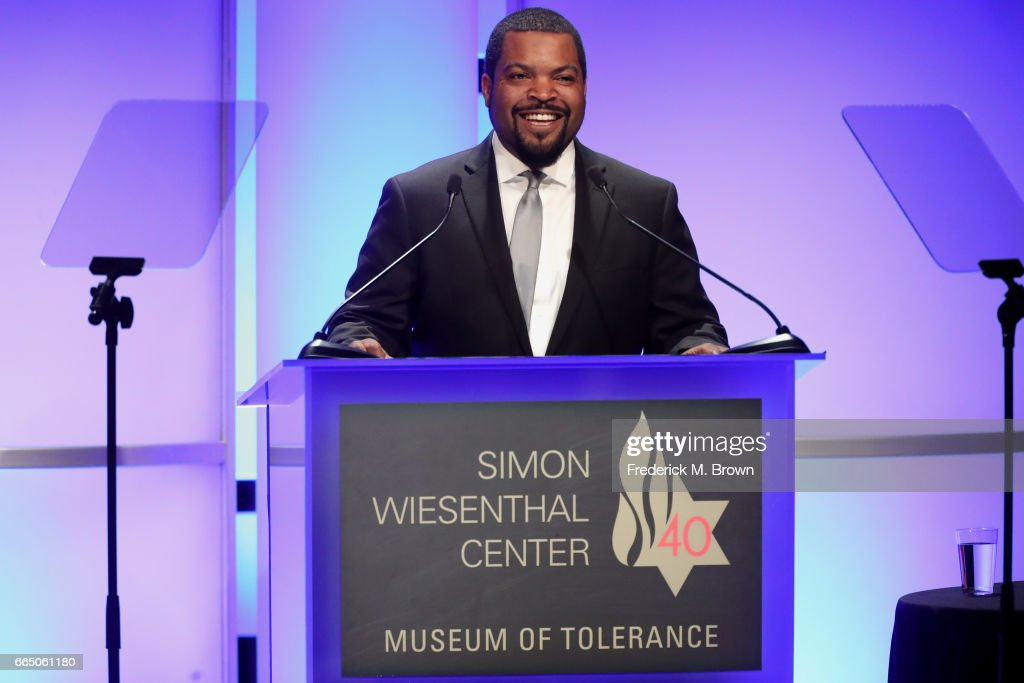 Recording artist Ice Cube speaks onstage at The Simon Wiesenthal Center's 2017 National Tribute Dinner at The Beverly Hilton Hotel on April 5, 2017 in Beverly Hills, California.