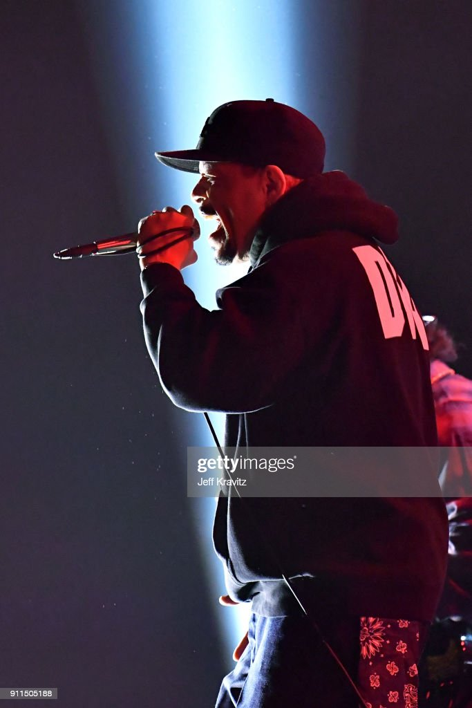 Recording artist Ice-T performs onstage at the premiere ceremony during the 60th Annual GRAMMY Awards at Madison Square Garden on January 28, 2018 in New York City.