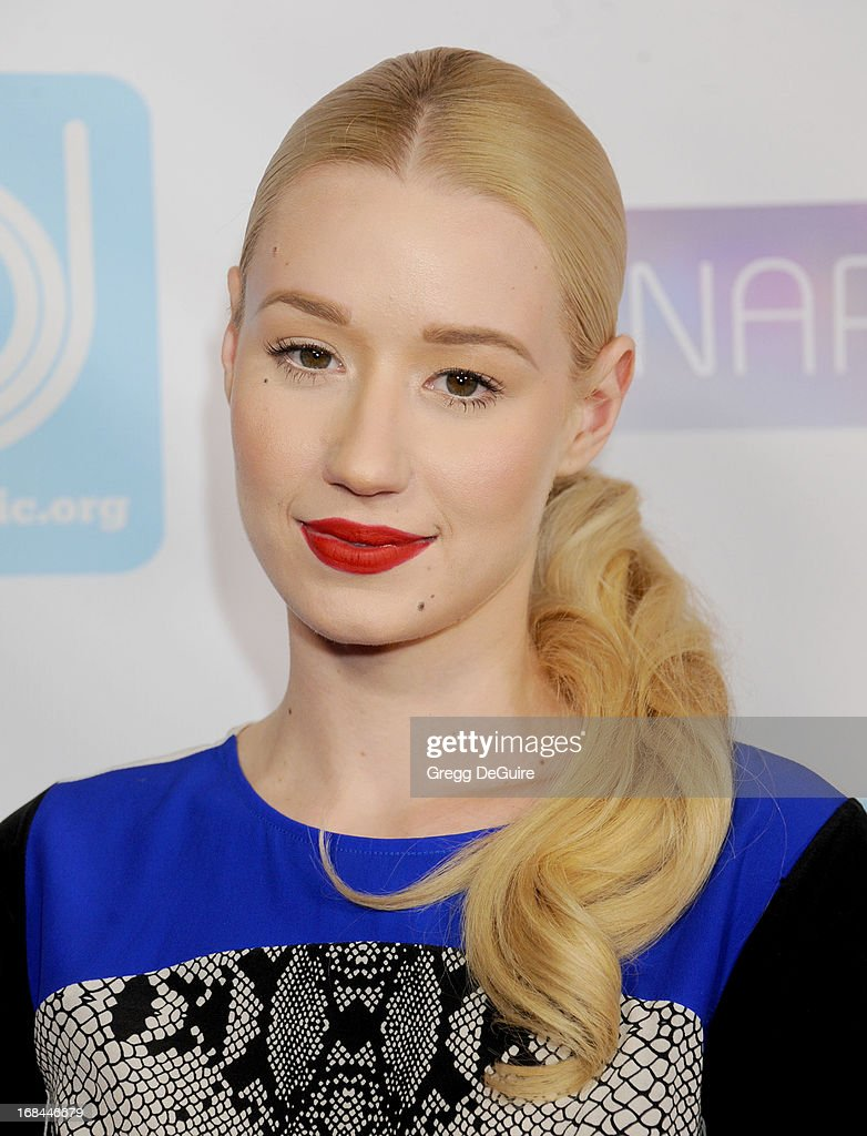 Recording artist Iggy Azalea arrives at the NARM Music Biz Awards dinner party at the Hyatt Regency Century Plaza on May 9, 2013 in Century City, California.