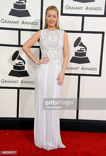 Recording artist Iggy Azalea attends the 56th GRAMMY Awards at Staples Center on January 26 2014 in Los Angeles California