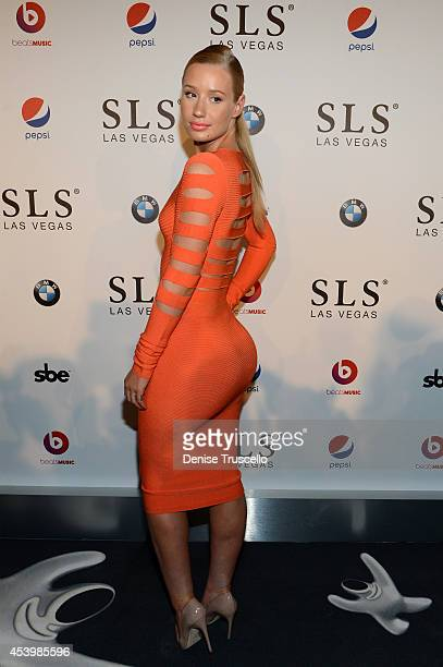 Recording artist Iggy Azalea attends the SLS Las Vegas grand opening celebration on August 22 2014 in Las Vegas Nevada