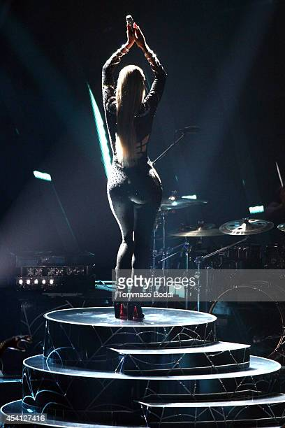 Recording artist Iggy Azalea performs at the 2014 MTV Video Music Awards held at The Forum on August 24 2014 in Inglewood California