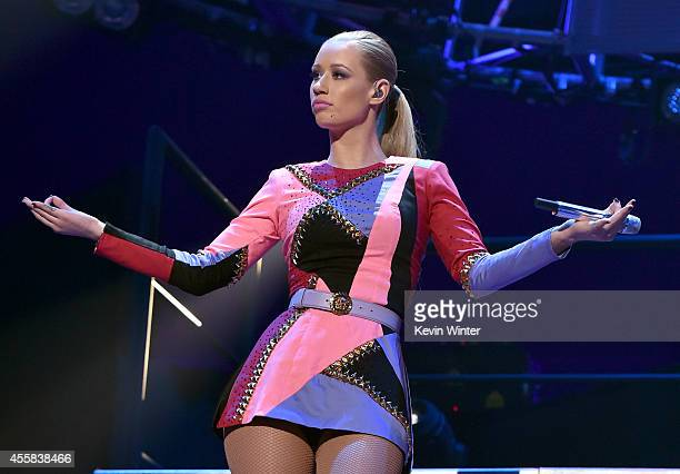 Recording artist Iggy Azalea performs onstage during the 2014 iHeartRadio Music Festival at the MGM Grand Garden Arena on September 20, 2014 in Las...