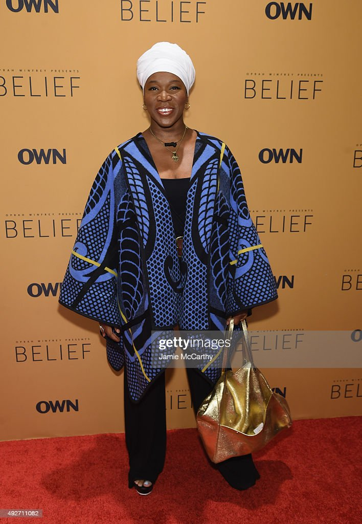Recording artist India.Arie attends the 'Belief' New York premiere at TheTimesCenter on October 14, 2015 in New York City.