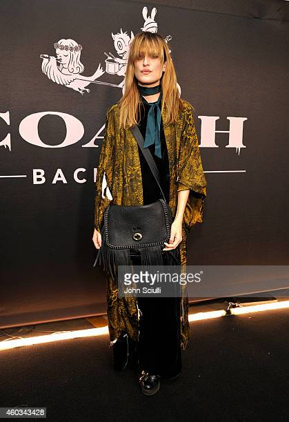 Recording artist Ioanna Gika attends Coach Backstage Rodeo Drive on December 11 2014 in Beverly Hills California