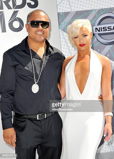 Recording artist Irv Gotti and model Ashley Martelle attend the 2016 BET Awards at Microsoft Theater on June 26 2016 in Los Angeles California