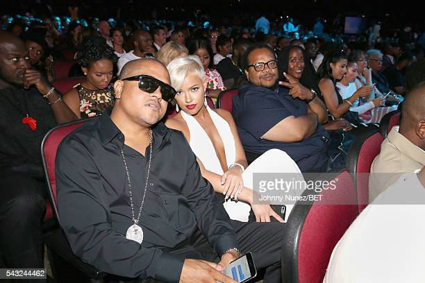 Recording artist Irv Gotti and model Ashley Martelle attend the 2016 BET Awards at the Microsoft Theater on June 26 2016 in Los Angeles California