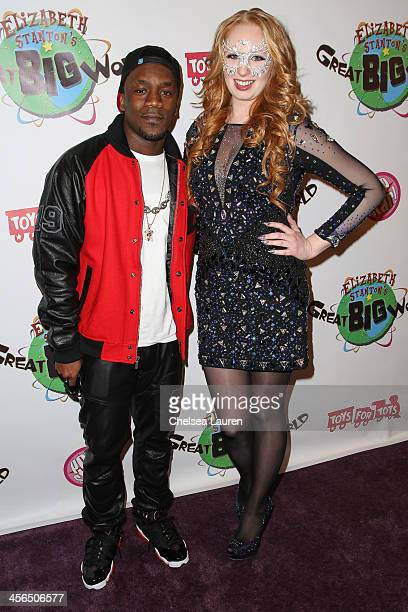 Recording artist Iyaz and TV personality Elizabeth Stanton arrive at Elizabeth Stanton's 18th birthday benefiting Toys for Tots at Belasco Theatre on...