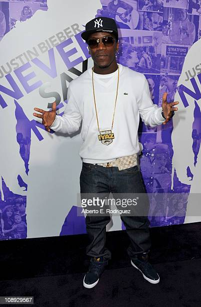 Recording artist Iyaz arrives at the premiere of Paramount Pictures' 'Justin Bieber Never Say Never' held at Nokia Theater LA Live on February 8 2011...