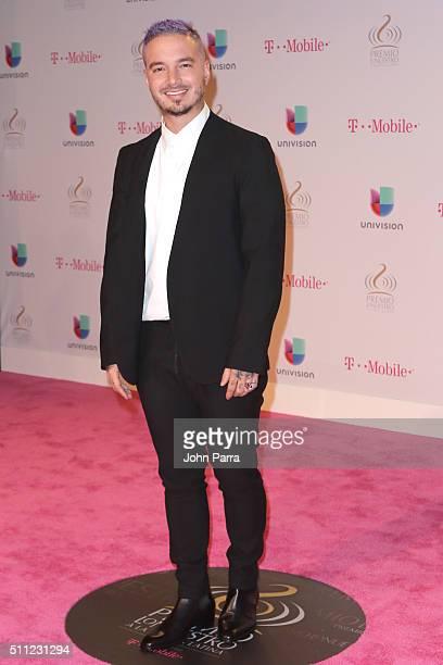Recording artist J Balvin attends Univision's 28th Edition of Premio Lo Nuestro A La Musica Latina on February 18 2016 in Miami Florida
