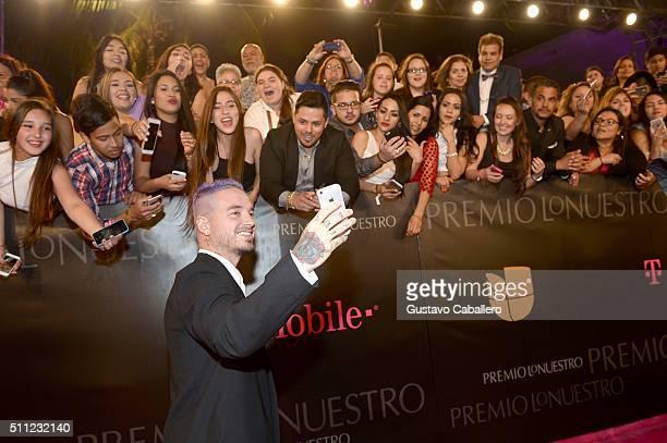 Recording artist J Balvin attends Univision's 28th Edition of Premio Lo Nuestro A La Musica Latina on February 18, 2016 in Miami, Florida.