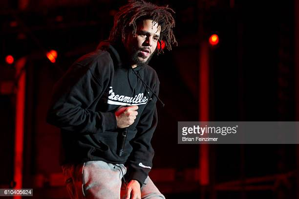 Recording artist J Cole performs onstage during the 2016 Life is Beautiful festival on September 24 2016 in Las Vegas Nevada