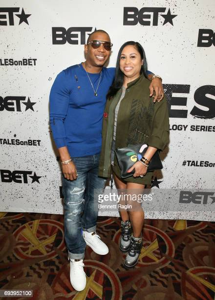 Recording artist Ja Rule and wife Aisha Atkins attend the screening of BET's series Tales at AMC 34th Street on June 8 2017 in New York City