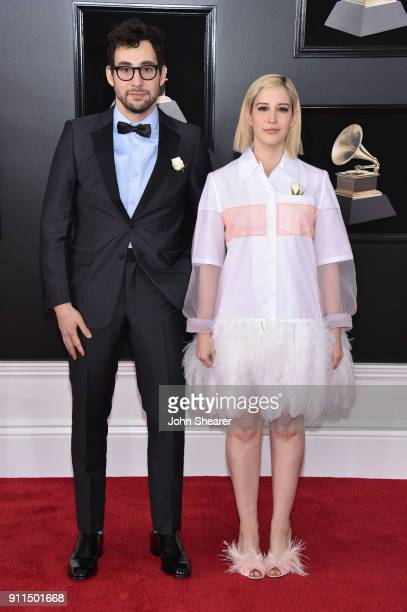 Recording artist Jack Antonoff and designer Rachel Antonoff attend the 60th Annual GRAMMY Awards at Madison Square Garden on January 28 2018 in New...
