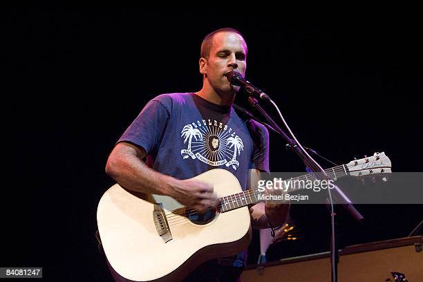 Recording artist Jack Johnson performs at the 2008 Coachella Valley Music and Arts Festival on April 25 2008 in Indio, California.