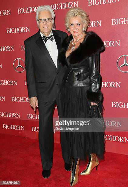 Recording artist Jack Jones and a guest attend the 27th Annual Palm Springs International Film Festival Awards Gala at the Palm Springs Convention...