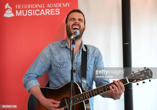 Recording Artist Jackie Lee performs during MusiCares Country Music Night at Aj's Good Time Bar on April 24 2018 in Nashville Tennessee