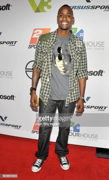 Recording artist Jackie Long attends the Versus Sport and NBA 2K10 Video Game Launch Party on September 18 2009 in Los Angeles California