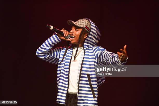 Recording artist Jacquees performs on stage during VJam Teen Concert at Center Stage on April 21 2017 in Atlanta Georgia