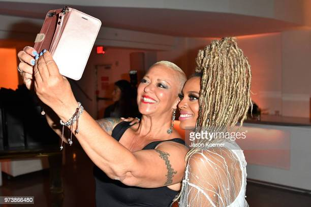 Recording artist Jade Novah and guest attend Cadillac Welcome Luncheon At ABFF Black Hollywood Now at The Temple House on June 13 2018 in Miami Beach...