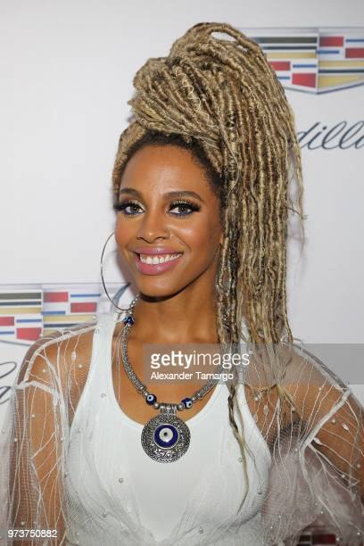 Recording artist Jade Novah attends Cadillac Welcome Luncheon At ABFF Black Hollywood Now at The Temple House on June 13 2018 in Miami Beach Florida