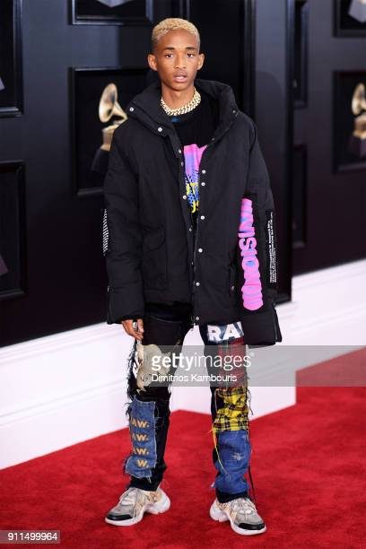 Recording artist Jaden Smith attends the 60th Annual GRAMMY Awards at Madison Square Garden on January 28 2018 in New York City