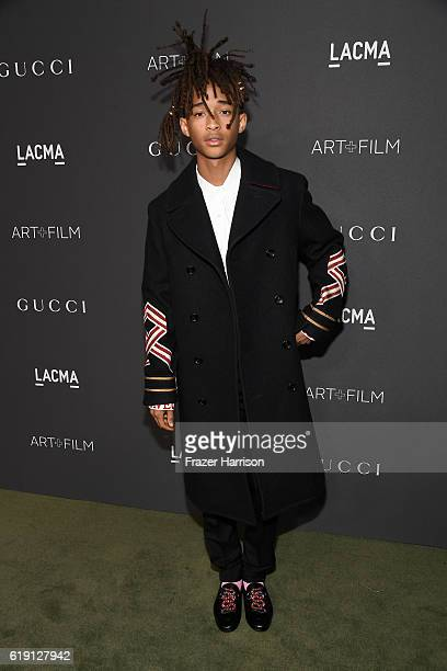 Recording artist Jaden Smith wearing Gucci attends the 2016 LACMA Art Film Gala honoring Robert Irwin and Kathryn Bigelow presented by Gucci at LACMA...