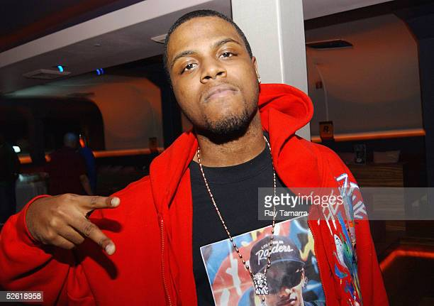 Recording artist Jae Millz poses for photos at Bryan Baby AKA Birdman Williams' album release party at Bed on April 11 2005 in New York